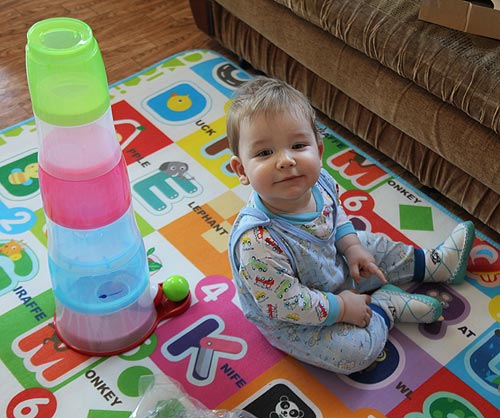 развивающая игрушка Imaginarium Babelball. Пирамидка